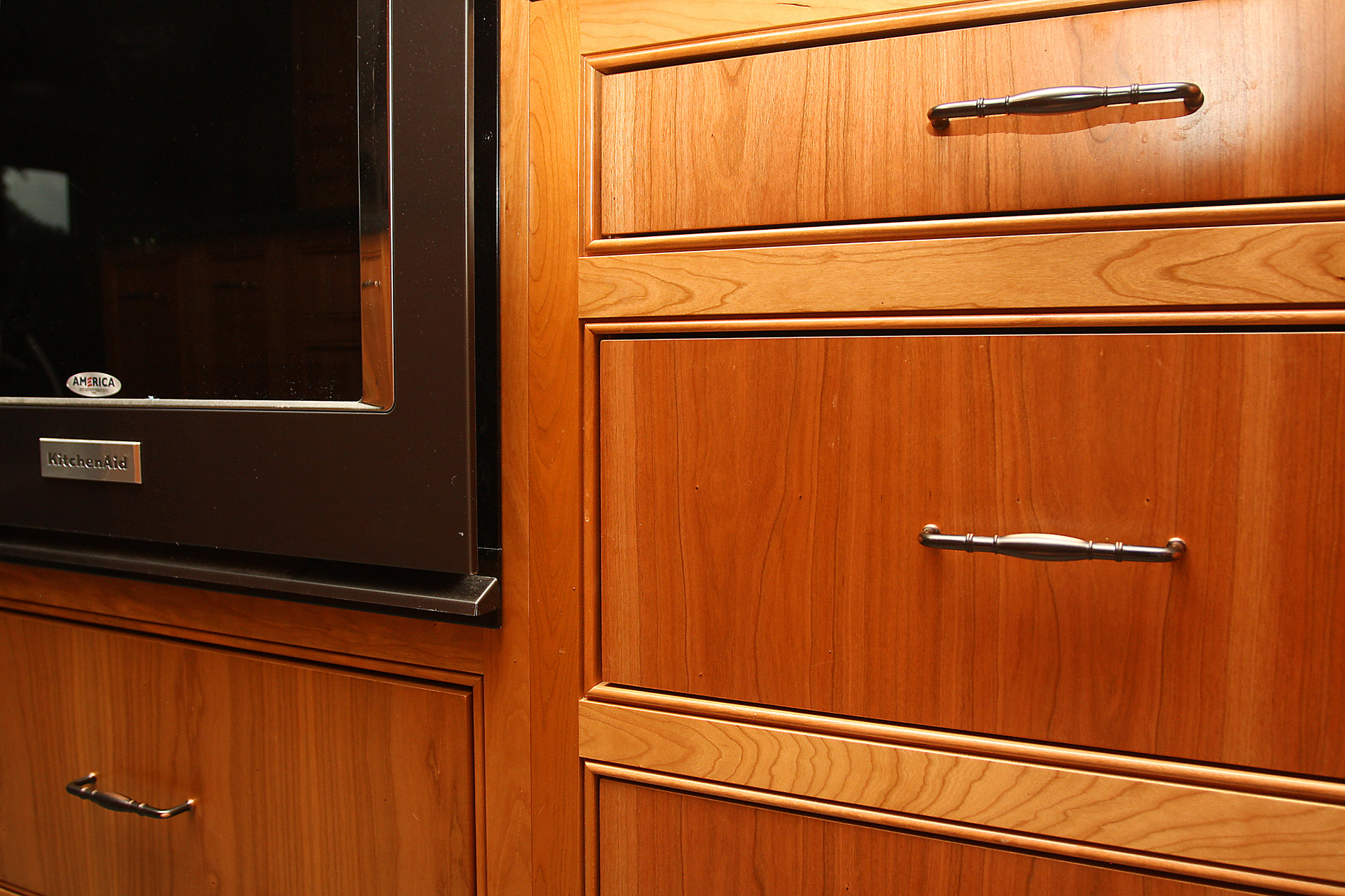 Asheville kitchen cabinets cherry custom cabinets with for Custom kitchen cupboards