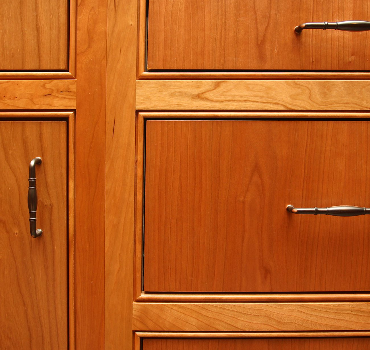 Beaded Kitchen Cabinets: Cherry Custom Cabinets With