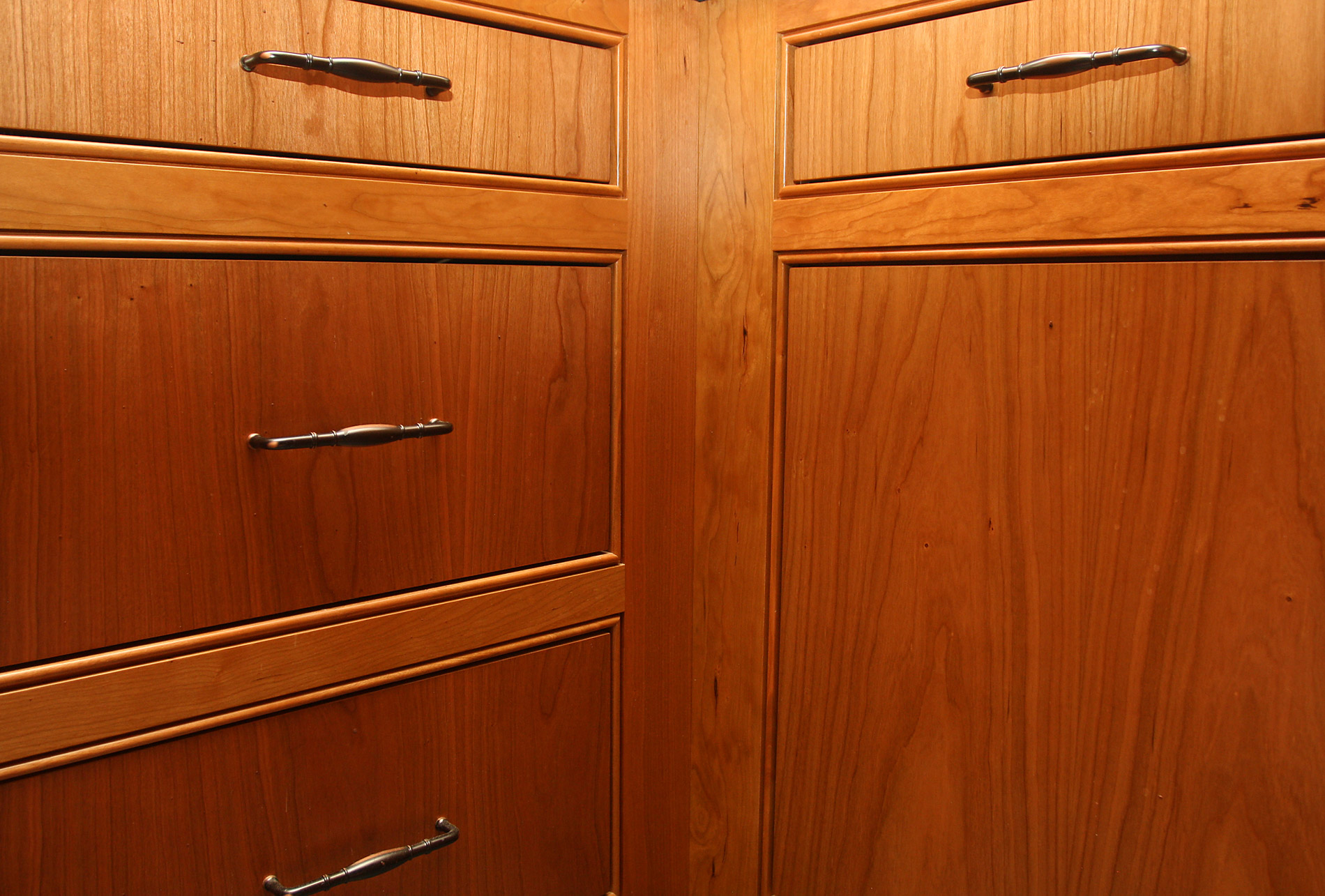 Matched Grain Cabinets